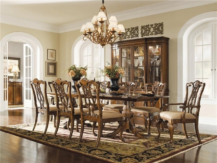 15. Universal Furniture Chippendale Style Dining Table And Six Chairs intended for Universal Dining Tables