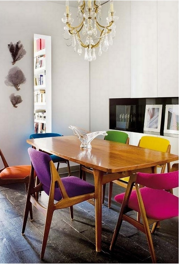 16. Fabulous Unique Dining Room Chairs Colourful Dining Table And Intended For Colourful Dining Tables And Chairs (Photo 5 of 25)