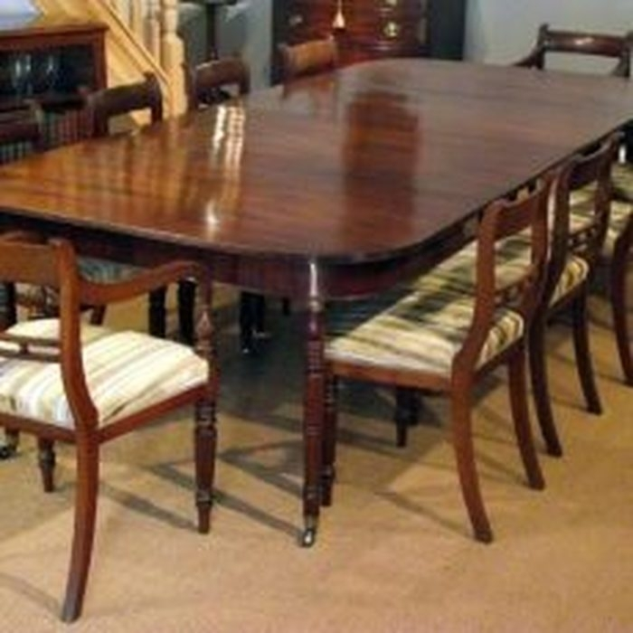 16. Image Is Loading Victorian Mahogany Dining Table Set Chairs For Mahogany Dining Table Sets (Photo 25 of 25)