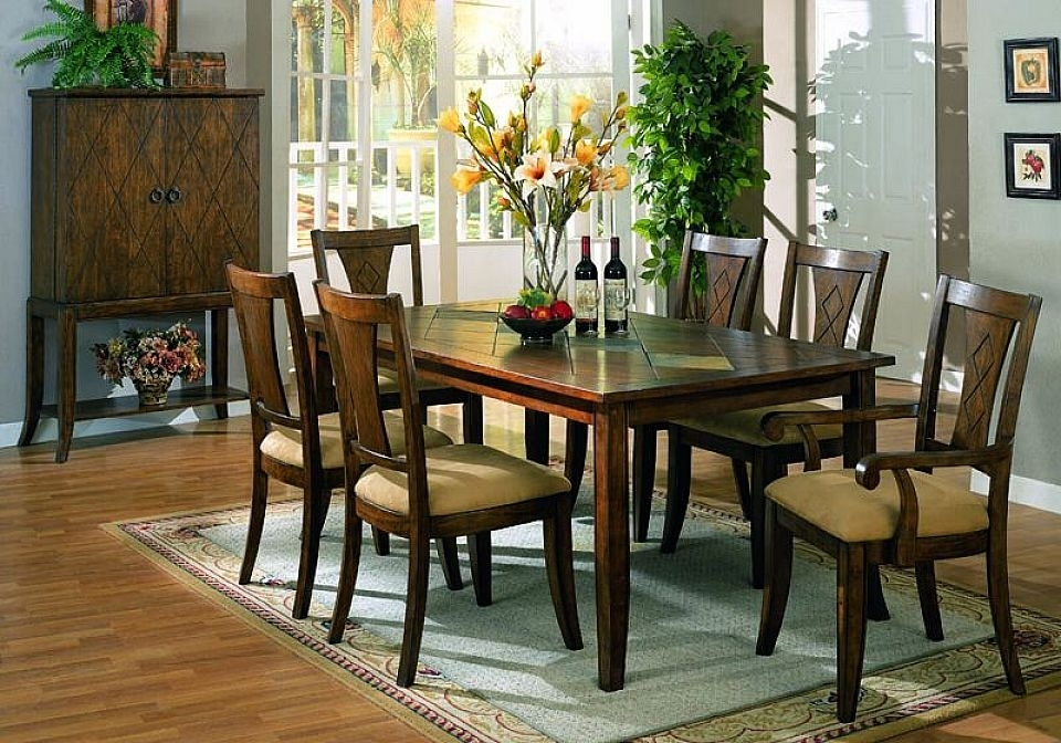 16. Java Dark Wood Extending Dining Table With 4 Java Chairs with regard to Dark Wood Dining Room Furniture