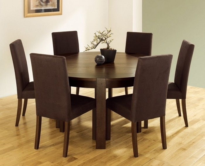16. Perfect Round Dining Room Sets For 6 With Round Dining Table For Intended For Round 6 Person Dining Tables (Photo 2 of 25)