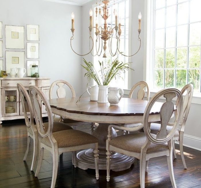 16. Shabby Chic Dining Sets Tabitha Dining Furniture Shab Chic Style Within Shabby Chic Dining Chairs (Photo 20 of 25)