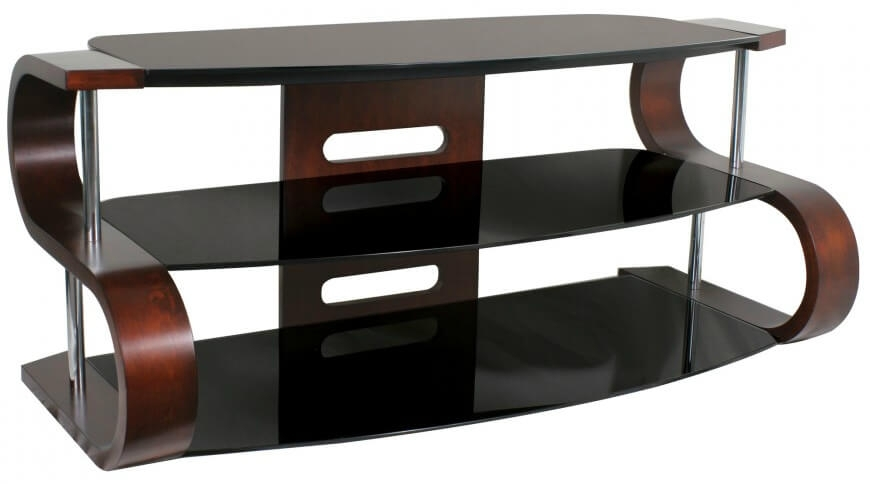 16 Types Of Tv Stands (Comprehensive Buying Guide) Inside Ina Matte Black 60 Inch Counter Tables With Frosted Glass (Image 1 of 25)