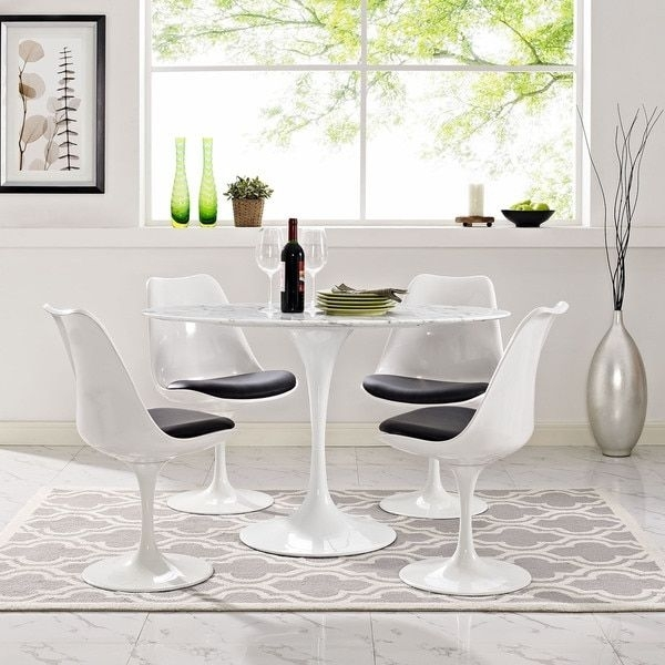 17 Best Tables Tulipes Images On Pinterest | Tulips Flowers, Dining Pertaining To Palazzo 7 Piece Dining Sets With Pearson Grey Side Chairs (View 20 of 25)
