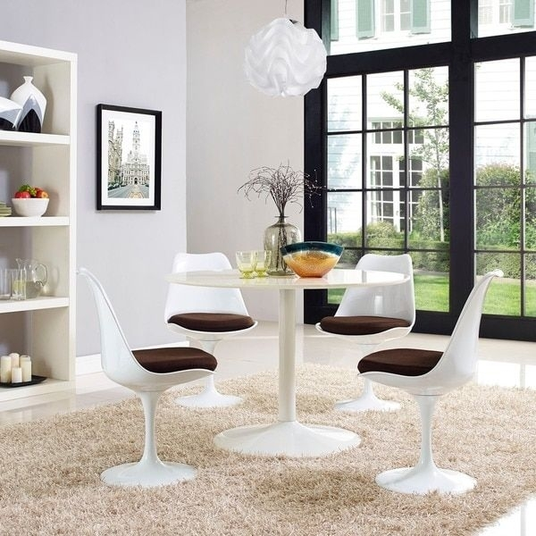 17 Best Tables Tulipes Images On Pinterest | Tulips Flowers, Dining Throughout Palazzo 7 Piece Dining Sets With Pearson White Side Chairs (Photo 7 of 25)