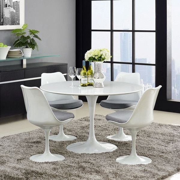 17 Best Tables Tulipes Images On Pinterest | Tulips Flowers, Dining With Palazzo 7 Piece Dining Sets With Pearson White Side Chairs (Image 3 of 25)
