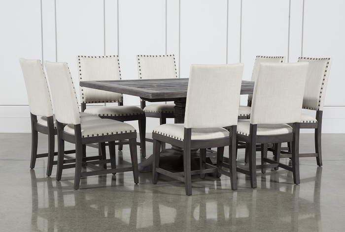 17. Norwood 9 Piece Square Dining Set For Norwood Rectangle Extension Dining Tables (Photo 24 of 25)
