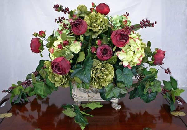 18 Excellent Silk Flower Arrangements For Dining Room Table Digital regarding Artificial Floral Arrangements For Dining Tables