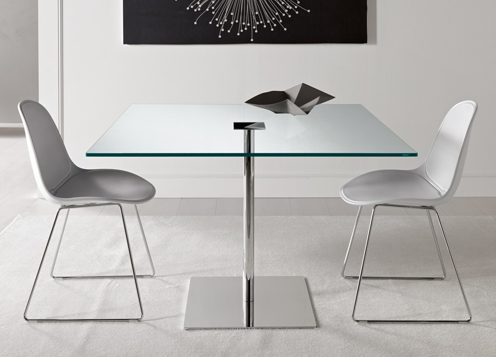18+ Square Glass Top Dining Tables Designs, Ideas, Plans | Design Pertaining To Square Black Glass Dining Tables (Photo 12 of 25)