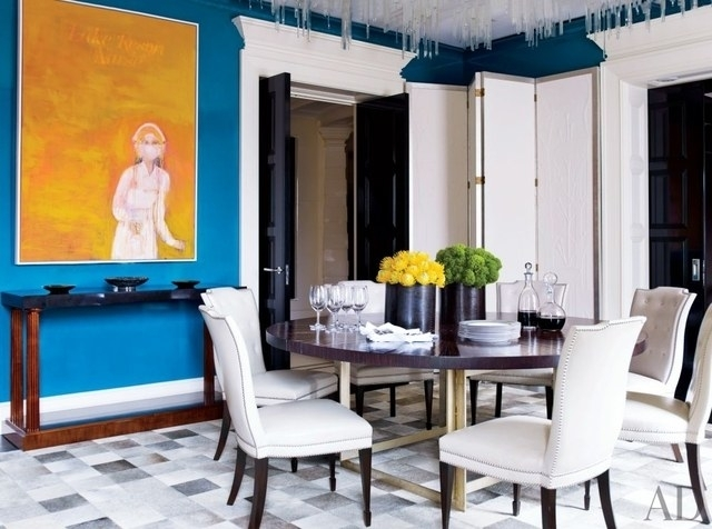 19 Round Dining Tables That Make A Statement Photos | Architectural Regarding Dining Tables New York (Image 1 of 25)