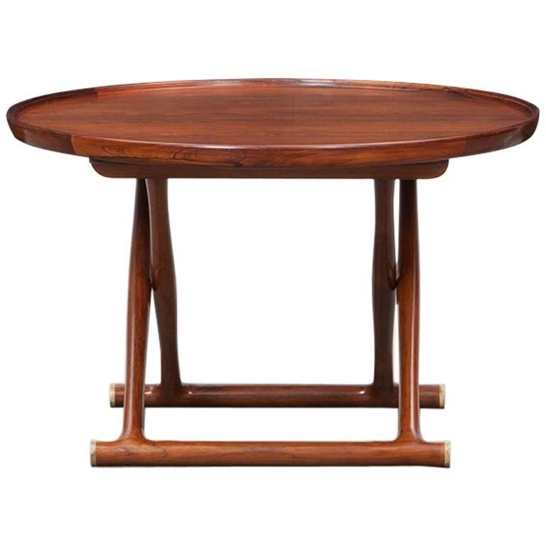 1950S Brown Rosewood Occasional Tablemogens Lassen For Sale At intended for Lassen Round Dining Tables