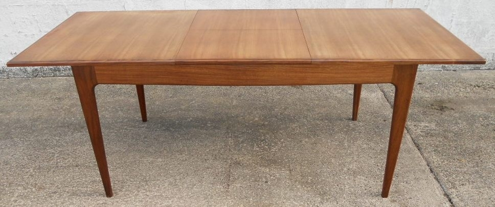 1960 S Retro Teak Extending Dining Table To Seat Eight – Sold Intended For Retro Extending Dining Tables (Image 1 of 25)