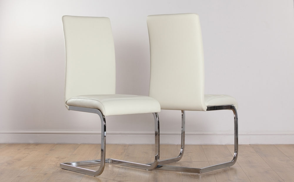 2 4 6 8 Perth Ivory Leather Dining Room Chairs Ebay Grey Dining Room Pertaining To Ivory Leather Dining Chairs (Photo 4 of 25)