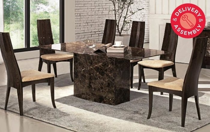 2. Best Austin Marble Dining Collection Costco Uk Solid Marble with Solid Marble Dining Tables