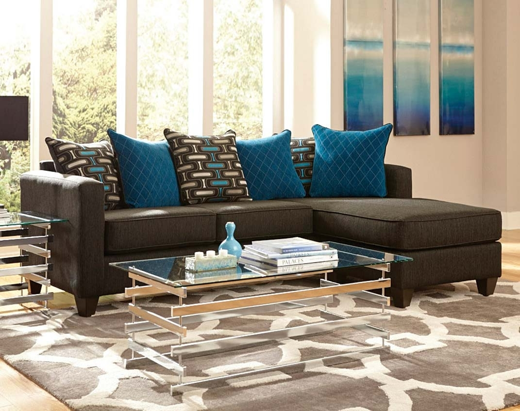 2 Pc. Black Sectional Couch With Chaise | American Freight regarding Meyer 3 Piece Sectionals With Laf Chaise