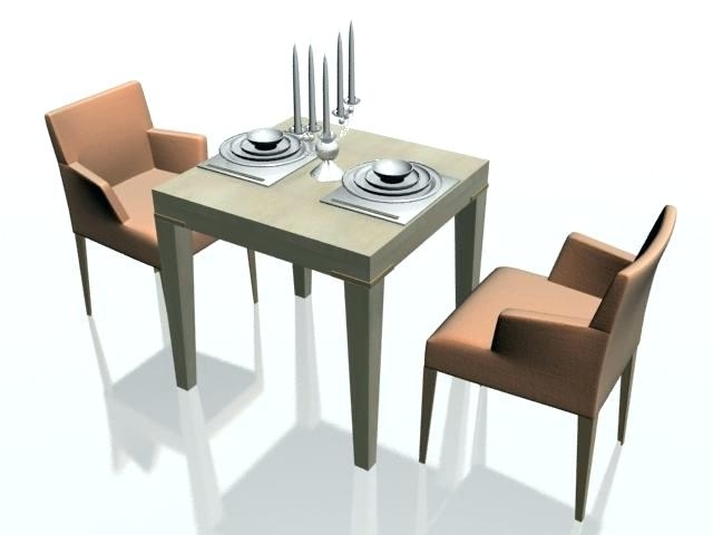 2 Person Dining Set 2 Person Dining Room Table 4 Person Dining Table Within Two Person Dining Table Sets (Image 1 of 25)
