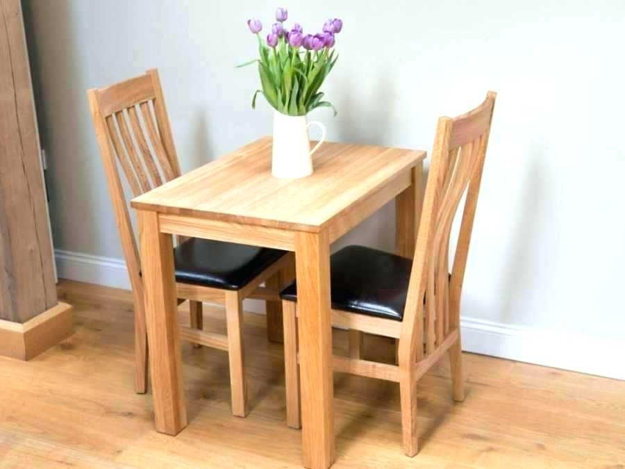 2 Person Table Set 3 Piece Dining Set Under Two Person Dining Table Intended For Small Two Person Dining Tables (Photo 20 of 25)