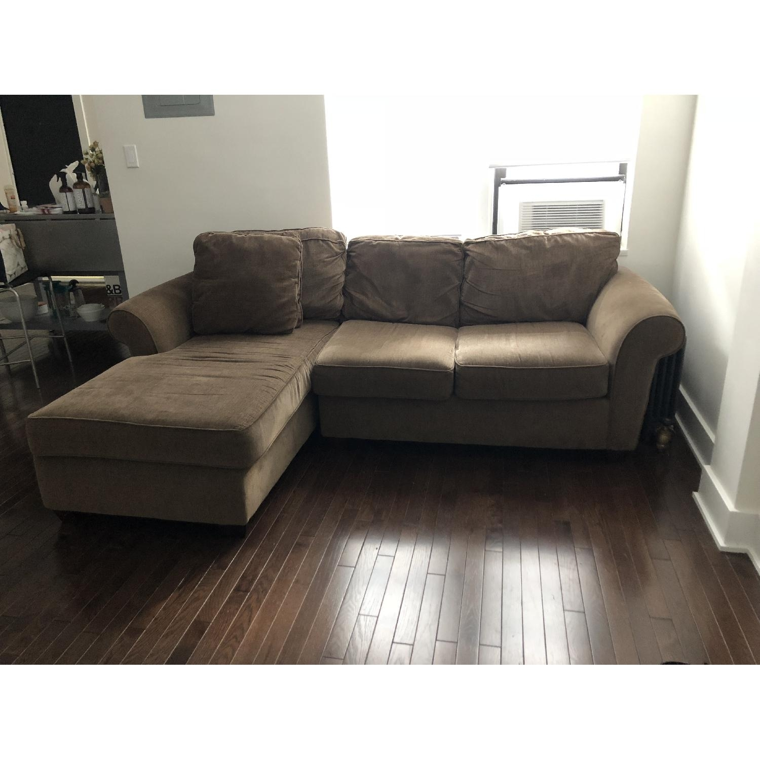 2 Piece Chaise Sectional Sofa | Baci Living Room Inside Tenny Cognac 2 Piece Left Facing Chaise Sectionals With 2 Headrest (View 10 of 25)