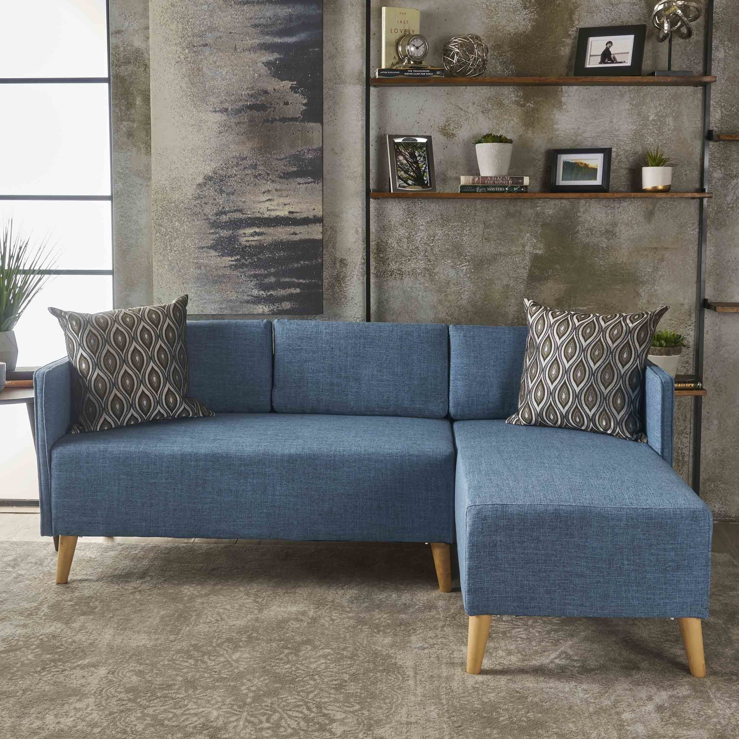 2 Piece Chaise Sectional Sofa | Baci Living Room With Tenny Cognac 2 Piece Left Facing Chaise Sectionals With 2 Headrest (Image 4 of 25)
