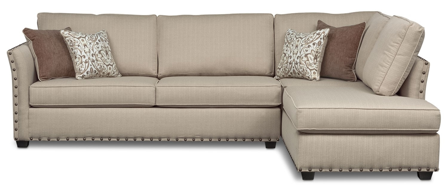 2 Piece Sectional Arrowmask W Laf Chaise Living Spaces 223426 Grey Regarding Arrowmask 2 Piece Sectionals With Raf Chaise (Image 1 of 25)