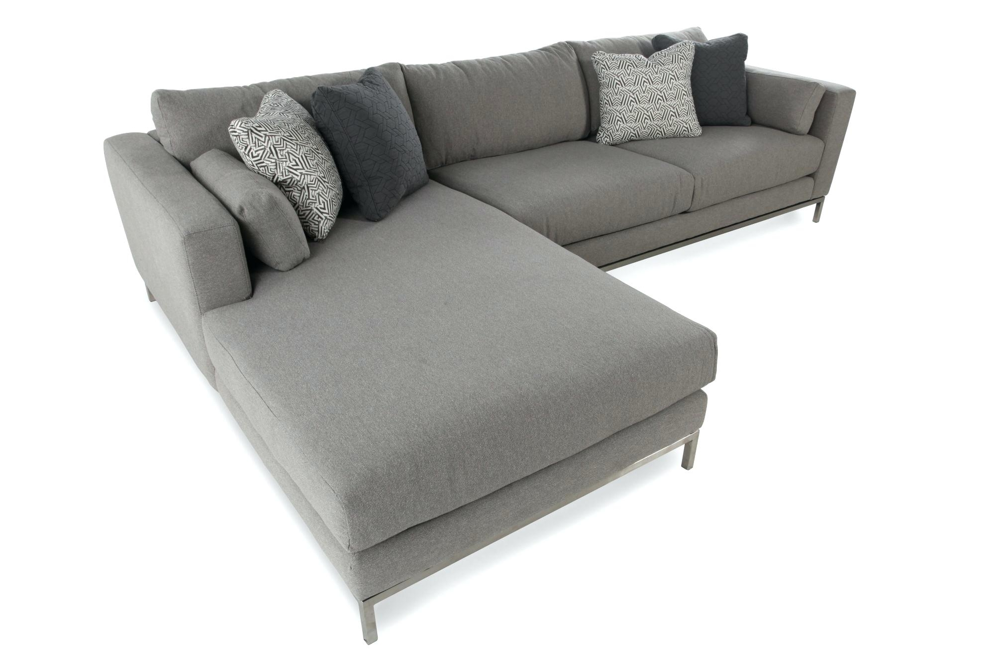 2 Piece Sectional Sofa Canada | Baci Living Room For Cosmos Grey 2 Piece Sectionals With Raf Chaise (Image 1 of 25)