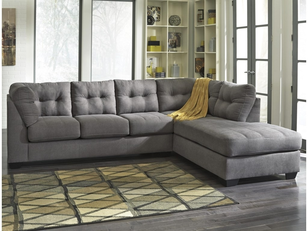 2 Piece Sectional Sofa With Chaise Kerri W Raf Living Spaces 107153 In Kerri 2 Piece Sectionals With Raf Chaise (Image 1 of 25)