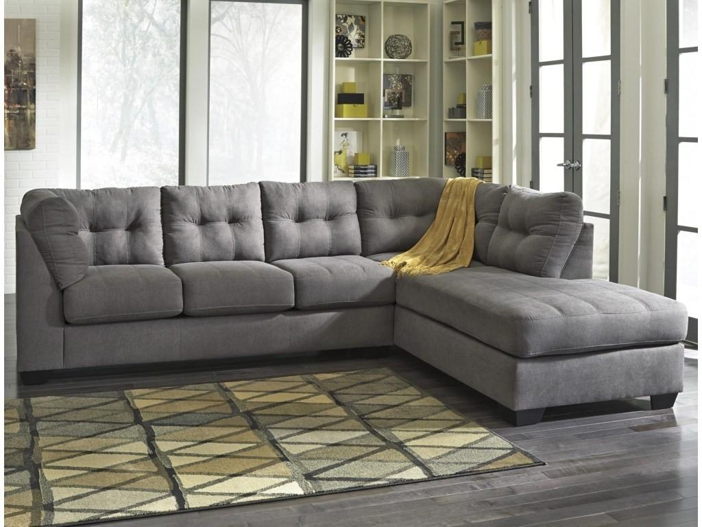 2 Piece Sectional Sofa With Chaise Kerri W Raf Living Spaces 107153 in Kerri 2 Piece Sectionals With Raf Chaise