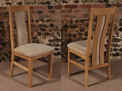2 Slat Back Solid Oak Dining Chair, The Oak & Pine Barn, Hampshire Throughout Oak Dining Chairs (Image 2 of 25)