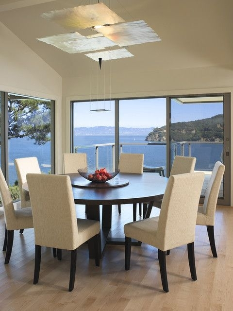 20 Admirable Dining Room Designs With Wooden Circular Tables Throughout Large Circular Dining Tables (Image 2 of 25)