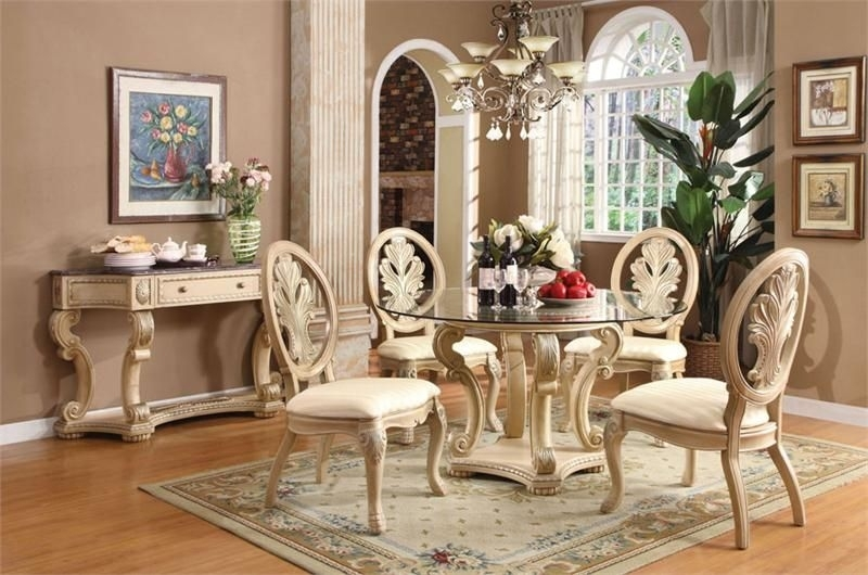 20 Amazing Glass Top Dining Table Designs | Kitchen Nook | Pinterest In Caira Black 5 Piece Round Dining Sets With Diamond Back Side Chairs (Photo 15 of 25)