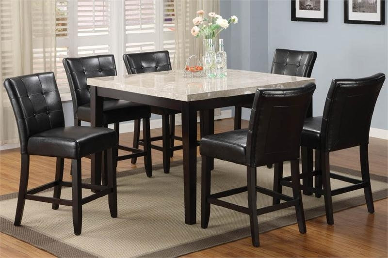20. Counter Top Dining Table Sets High Top Dining Room Table Buy throughout Cora 7 Piece Dining Sets