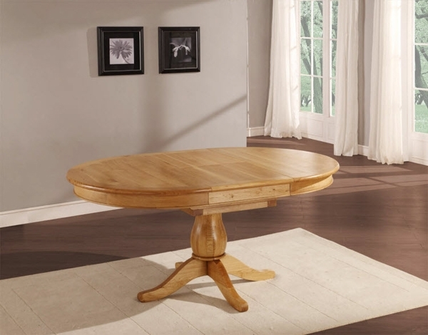 20 Outstanding Oval Oak Dining Room Tables | Home Design Lover Regarding Oval Oak Dining Tables And Chairs (Image 2 of 25)