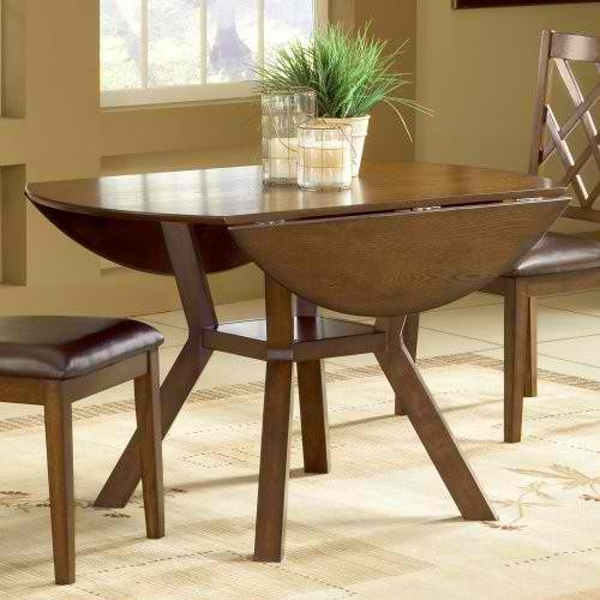 20 Pretty Wooden Oval Drop Leaf Dining Tables | Home Design Lover Intended For Oval Folding Dining Tables (Photo 2 of 25)