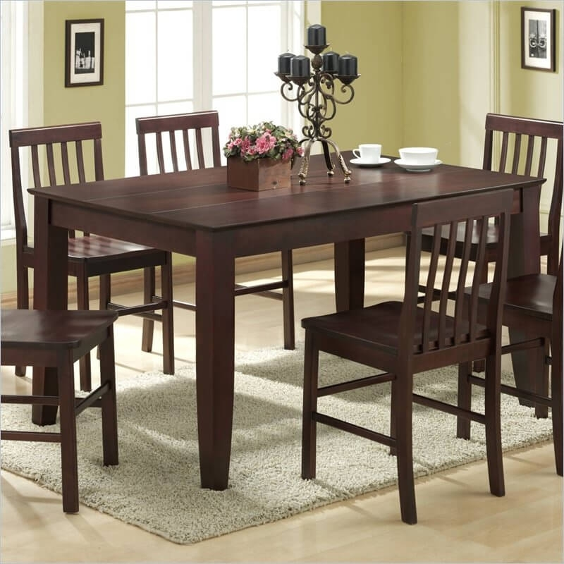 20 Wood Rectangle Dining Tables That Seats 6 Under $500 Within Solid Dark Wood Dining Tables (Image 1 of 25)
