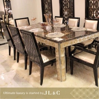 2014 10 Seater Dining Table For Dining With Marble Or Wooden Top in 10 Seat Dining Tables and Chairs