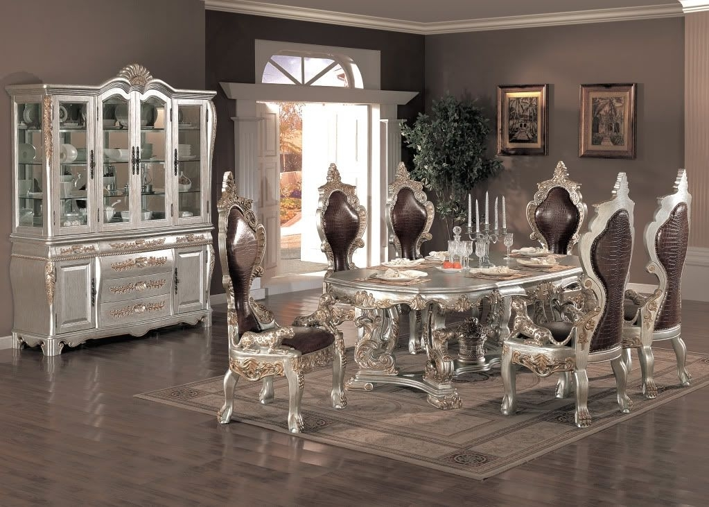 2017 Formal Dining Room Furniture For Elegant, Functional And Inside Delfina 7 Piece Dining Sets (Photo 11 of 25)