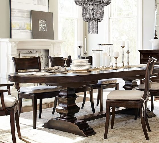 2017 Pottery Barn Dining Room Sale: Save 30% Dining Tables, Chairs Pertaining To Oval Dining Tables For Sale (Image 2 of 25)