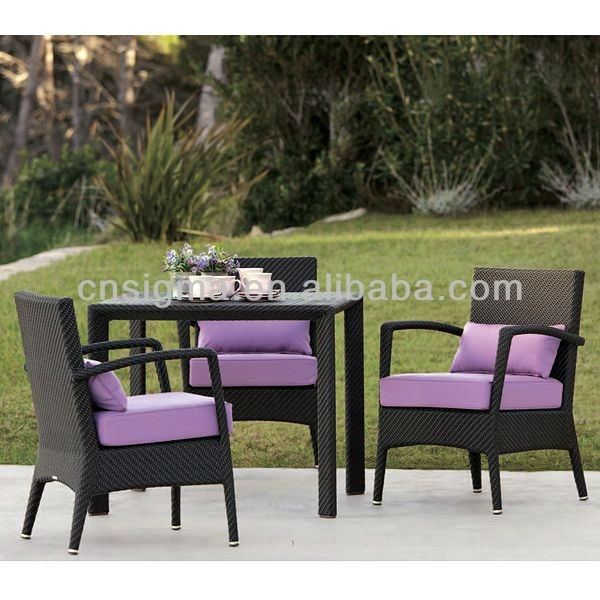 2017 Wicker Rattan Malaysia Dining Table Chairs Set In Garden Sets Within Garden Dining Tables And Chairs (Image 1 of 25)