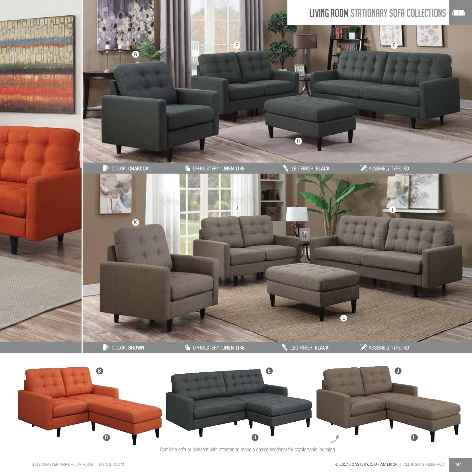 2018 Living Room Catalog Pages 151 - 200 - Text Version | Fliphtml5 regarding Gordon 3 Piece Sectionals With Raf Chaise