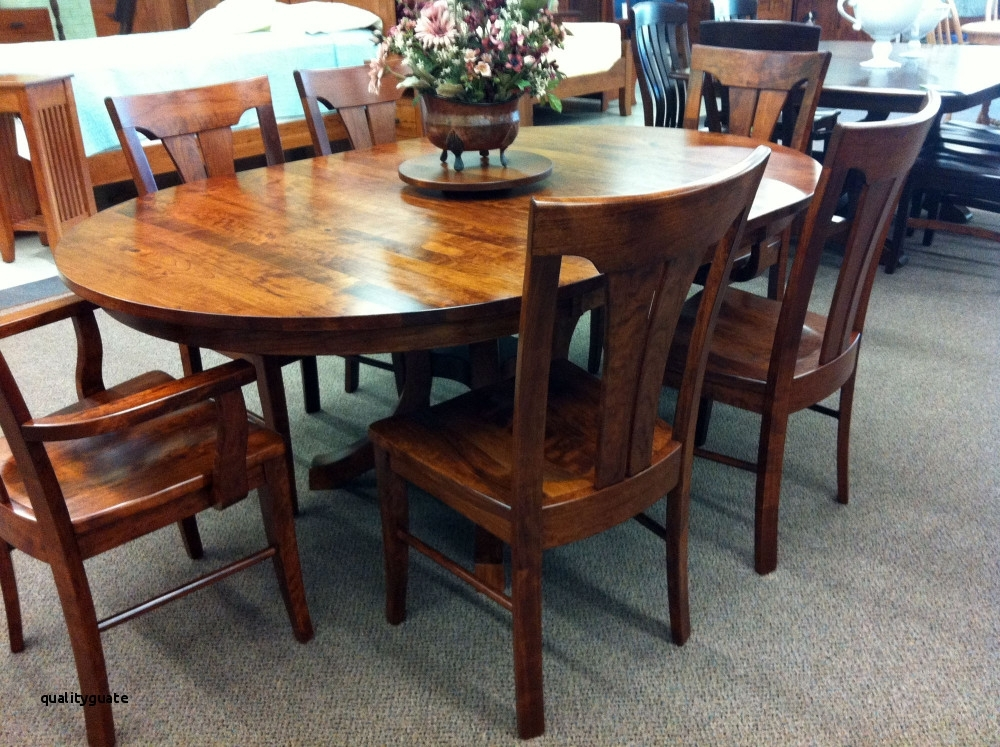 21 Excellent Dark Oak Dining Table Sets Gallery Throughout Solid Dark Wood Dining Tables (Image 2 of 25)
