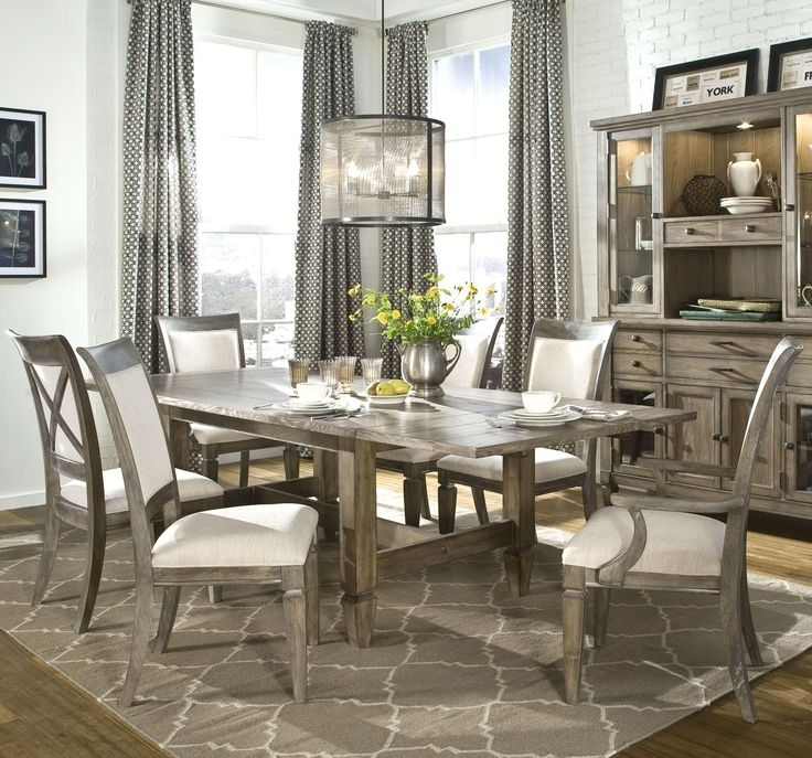 22 Best For My New Home Images On Pinterest | Table Settings, Dining In Caira Black 7 Piece Dining Sets With Upholstered Side Chairs (Image 2 of 25)