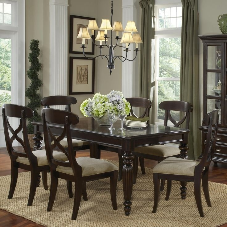 22 Best For My New Home Images On Pinterest | Table Settings, Dining Intended For Caira 7 Piece Rectangular Dining Sets With Diamond Back Side Chairs (View 12 of 25)