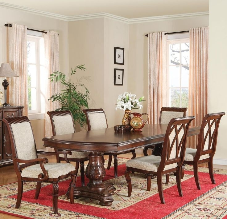 22 Best For My New Home Images On Pinterest | Table Settings, Dining Regarding Caira Black 7 Piece Dining Sets With Upholstered Side Chairs (Photo 25 of 25)
