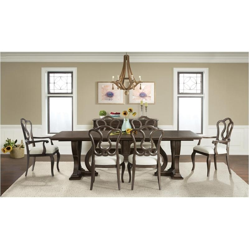 24950 Riverside Furniture Verona Dark Sienna Trestle Dining Table With Regard To Verona Dining Tables (View 10 of 25)