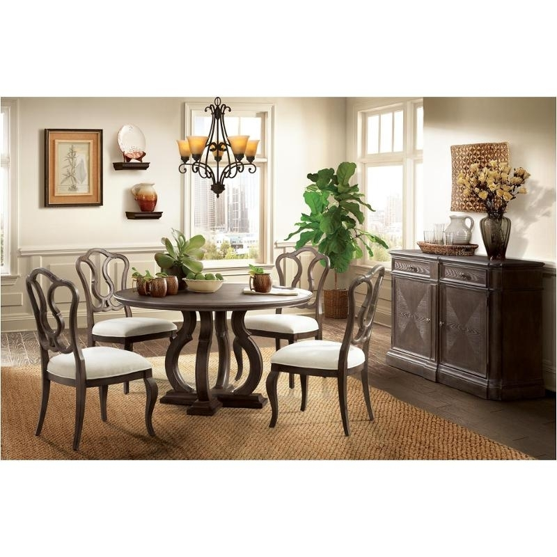 24952 Riverside Furniture Verona Dark Sienna Round Dining Table Regarding Verona Dining Tables (Photo 24 of 25)
