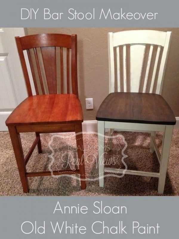 25 Amazing Thrift Store Furniture Makeovers | Kitchen | Pinterest Throughout Washed Old Oak & Waxed Black Legs Bar Tables (Image 1 of 25)