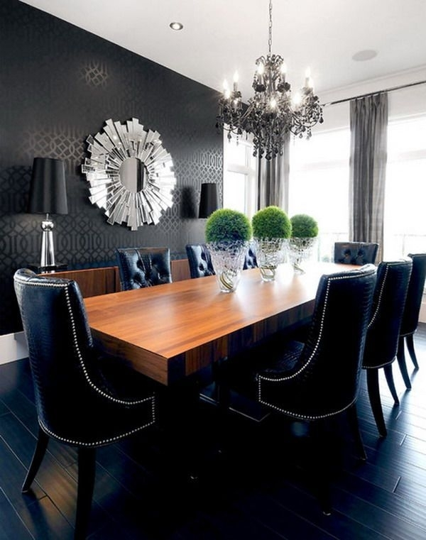 25 Beautiful Contemporary Dining Room Designs | Ideas For The House With Contemporary Dining Room Chairs (Image 1 of 25)