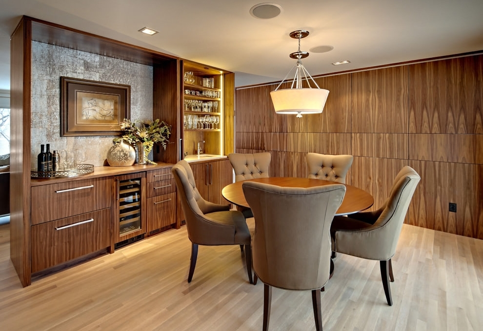 25+ Dining Room Cabinet Designs, Decorating Ideas | Design Trends With Regard To Dining Room Cabinets (View 11 of 25)
