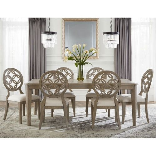 251 First Whittier 7 Piece Dining Set | Products Pertaining To Jaxon Grey 6 Piece Rectangle Extension Dining Sets With Bench & Uph Chairs (View 6 of 25)