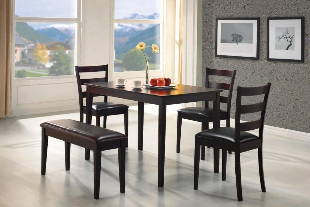 26 Dining Room Sets (Big And Small) With Bench Seating (2018) In Small Dining Tables And Bench Sets (Image 1 of 25)